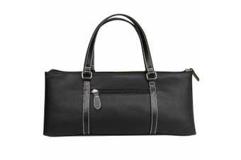 Wine Cooler Insulated Travel Tote Carrier Purse Handbag Lunch Cooler Bag BLACK