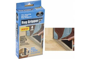 4 x Anti Skid RUG GRIPPERS Non Slip Reusable Carpet Mat Gripper NEW