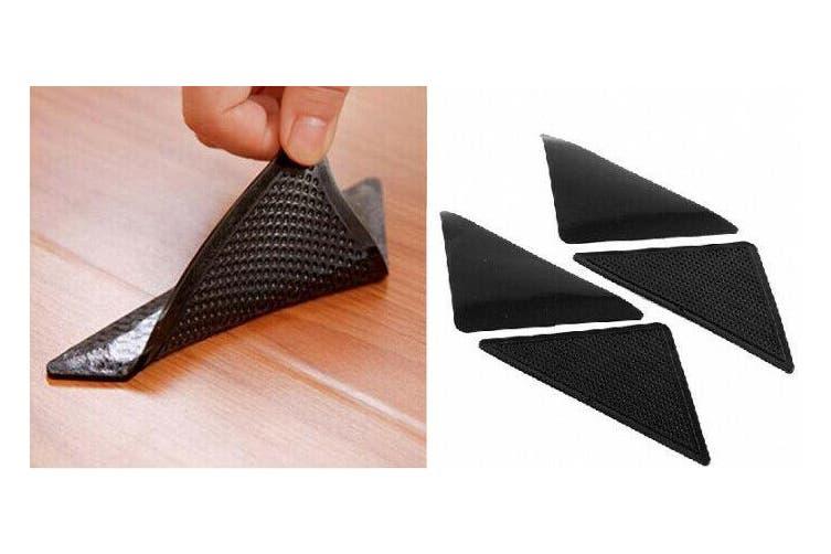 4 x Anti Skid RUG GRIPPERS Non Slip Reusable Carpet Mat Gripper NEW
