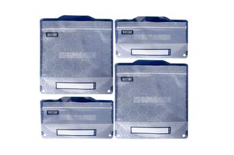 Set of 4 Reusable Snack & School Sandwich Pouches, Reusable lunch bag BPA Free