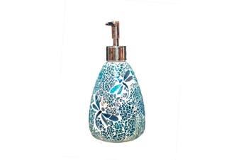 Dragonfly Glass Mosaic Soap Dispenser Pump Bottle Soap Holder Crystal Colourful