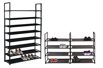 8 Tier or Double 4 Tier Shoe Rack Shelf Shoe Storage Organizer Sneaker Shelves