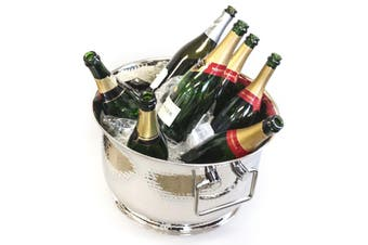 Stainless Steel Hammered Bowl Bucket Champagne Wine Cooler Bucket Container Ice