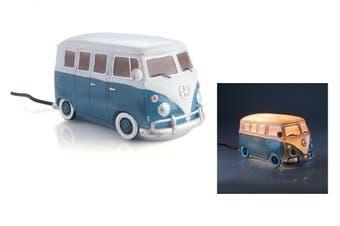 Blue Metal Look Combi Volkswagen VW Kombi Car Table Lamp Home Garage LED Light