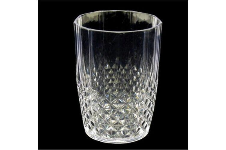 12 Acrylic Clear Plastic Tumbler Water Drinking Glasses Drink Tumblers Set