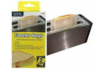 4 x Toast Bag Reusable Toaster Sandwich Bags Baking Pouch Toasty Toastie Pockets