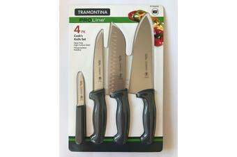 Tramontina ProLine 4 Pk Cook's Knife Set Carbon Steel Chef Knives
