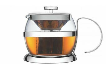 Tramontina 1200ml Stainless Steel Leaf and Bag Teapot Tea Maker Filter 6 Cup