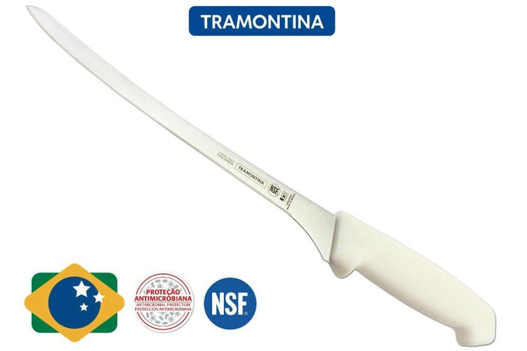 "Fillet Knife Tramontina 8"" Professional Boning Filleting Fish Brazil Stainless"