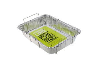 6 x Foil Tray Food Container Handles Roasting BBQ Dish Takeaway Oven