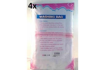 Washing Bag Pack Set of 4 Laundry Wash Bags Mesh Net Bra Delicates Lingerie