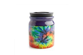 Small Rainbow Herb/Weed Storage Jar Large Prescription Marijuana Stash It