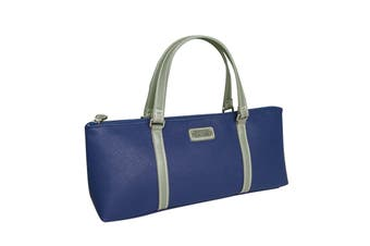 Sachi Wine Bottle Insulated Cooler Bag Tote Carrier Purse Handbag - Blue