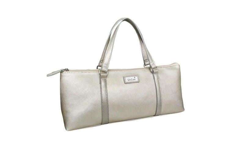 Sachi Wine Bottle Insulated Cooler Bag Tote Carrier Purse Handbag BYO SILVER