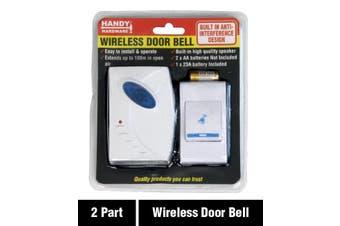 Wireless Doorbell Smart Door Bell Ring Chime 100m Range Battery Operated DIY
