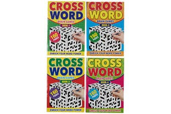 4 x A5 Crossword Book Words Find Puzzle Brain Game Cross Word 640 Pages