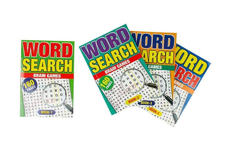 4 x A5 Word Search Book Words Find Puzzle 640 Pages Brain Game