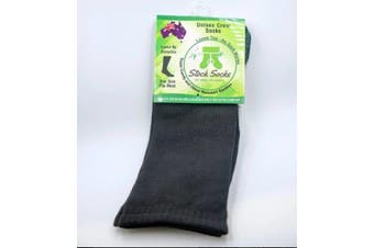 Stock Socks Crew Socks - Loose Top - Smooth Toe - Cushioned Sole