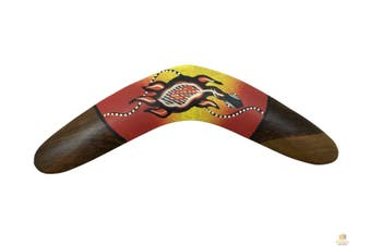 37cm BOOMERANG Aboriginal Art Australian Souvenir Wood Artwork Gift MEDIUM New