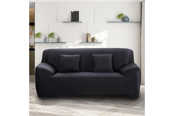 Advwin Stretch Sofa Cover Soft and Comfortable Couch Covers (3 Seater, Black)