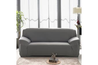Advwin Stretch Sofa Cover Soft and Comfortable Upgrade Pattern Couch Covers Dog, Cat Pet Slipcovers Furniture Protectors and additional cushion cover (3 Seater, Grey)145-185cm