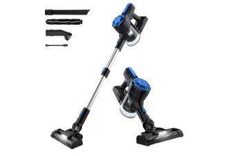 Advwin Cordless Vacuum Cleaner, 1200Pa 3 in 1 Powerful Filter Handheld Wireless Vacuum Cleaner with LED Light and Wall Bracket, Lightweight Portable, Blue