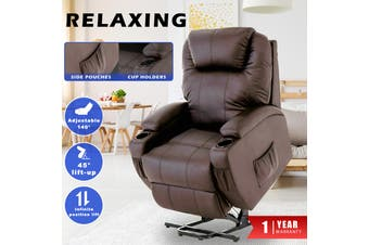 Advwin Recliner Chair Electric Lift Chairs, Brown
