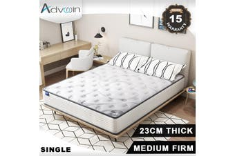 Advwin 1 Years After-Sales Service, Single Size (92cm*188*23 cm), White