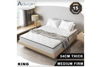 Advwin 1 Years After-Sales Service, King Size (183cm*204*34cm), White