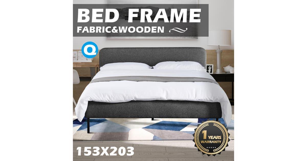 Advwin Upholstered Platform Bed Frame, Queen Size Boy Bed Frame