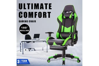 Advwin Gaming Chair Racing Style, Ergonomic Design with Footrest Reclining Executive Computer Office Chair, Relieve Fatigue