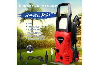 Advwin High Pressure Washer Electric Spray Gun Machine, 3500PSI Adjustable Nozzle,Red