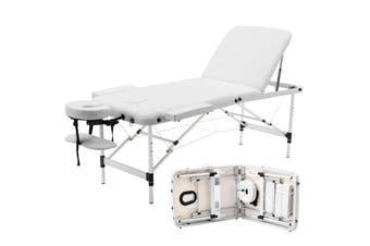 Advwin Massage Bed 3 Folding Portable Aluminum Beauty SPA, White