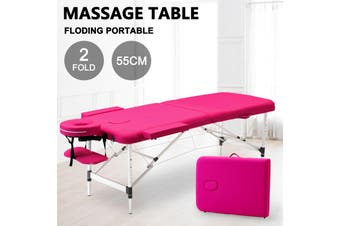Advwin Massage Bed 2 Folding Portable Aluminum Spa Bed, Pink