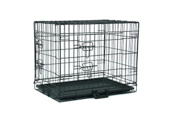 Advwin Homes for Pets Dog Crate, Outdoor Dog Cages, Single Door Folding Metal Dog Cage or Pet Kennel with TrayPet/ Fully Equipped
