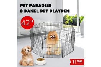 Advwin Metal Pet Playpen Dog Dence Exercise Pen,107x61x8cm