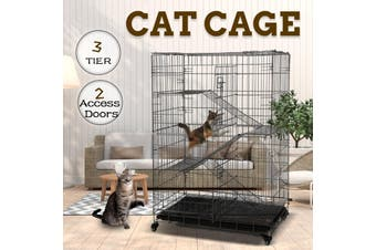 Advwin Pet Cage,3-layer Foldable Metal Outdoor Cat Cage
