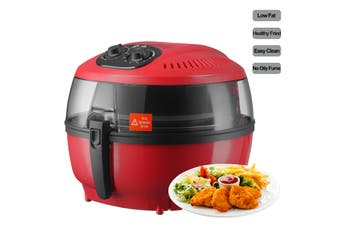 Advwin 8 in 1 Air Fryer, 80-200°C 7L Electric Hot Air Fryers Oven & Oilless Cooker for Roasting, 1-60 Minutes Cooking( 39x34x29cm,Red )