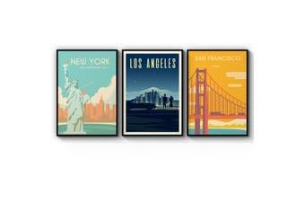Set of Retro Travel Wall Art