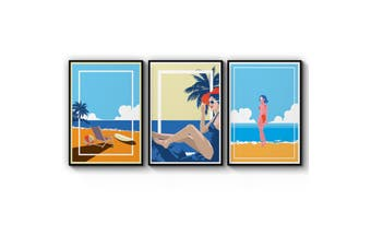 Set of Retro Beach Wall Art