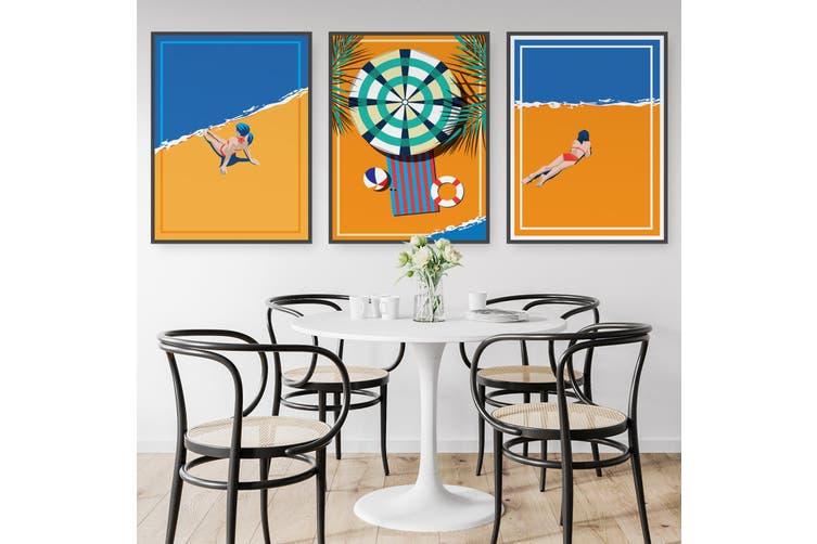 Set of Retro Beach Wall Art