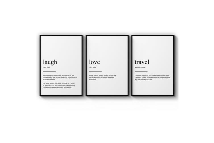 Set of Dictionary Definitions Wall Art