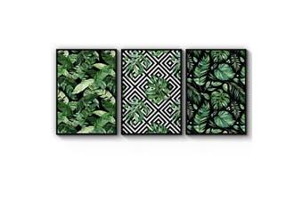 Set of Minimal Green Plant Wall Art