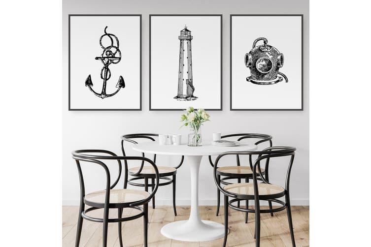 Set of Nautical Coast Wall Art