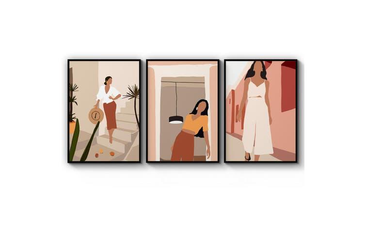 Set of Abstract Fashion Wall Art