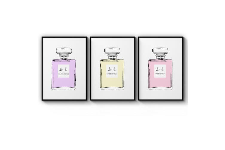 Set of Perfume Bottle Fashion Bedroom Wall Art