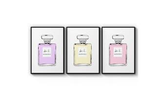 Set of Perfume Bottle Wall Art