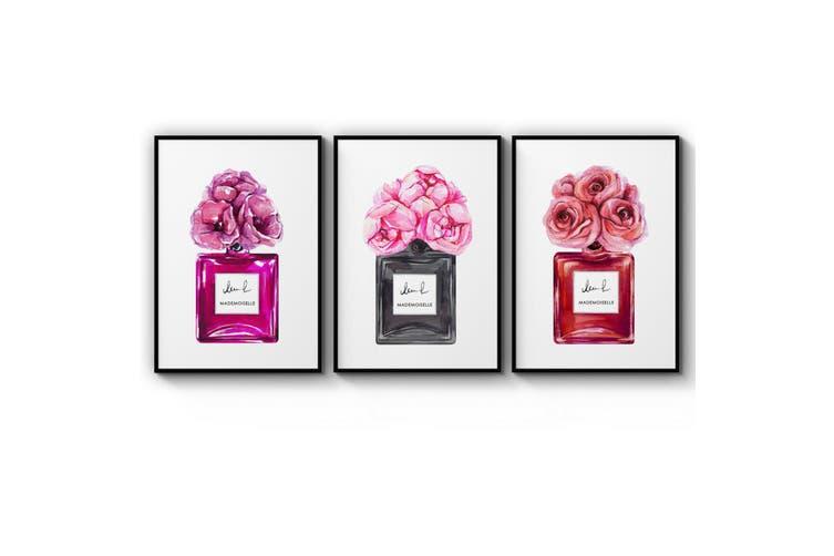 Set of Perfume Bottle Fashion Bedroom Wall Art