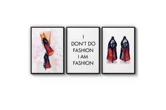Set of High Heels Fashion Wall Art