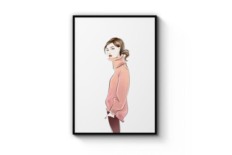 Cute Girl Painting Wall Art